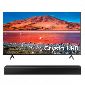 "Televisor + Barra Samsung 50"" UN50TU7000 Crystal 4K Bluetooth One Remote"